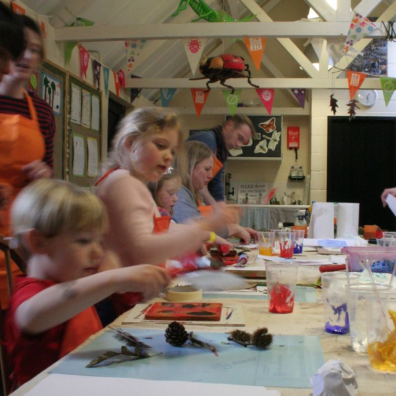 Childrens printmaking course Norfolk